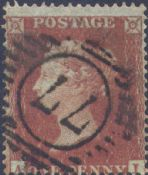 1854 1d Red SG17 Plate 178 'AI'